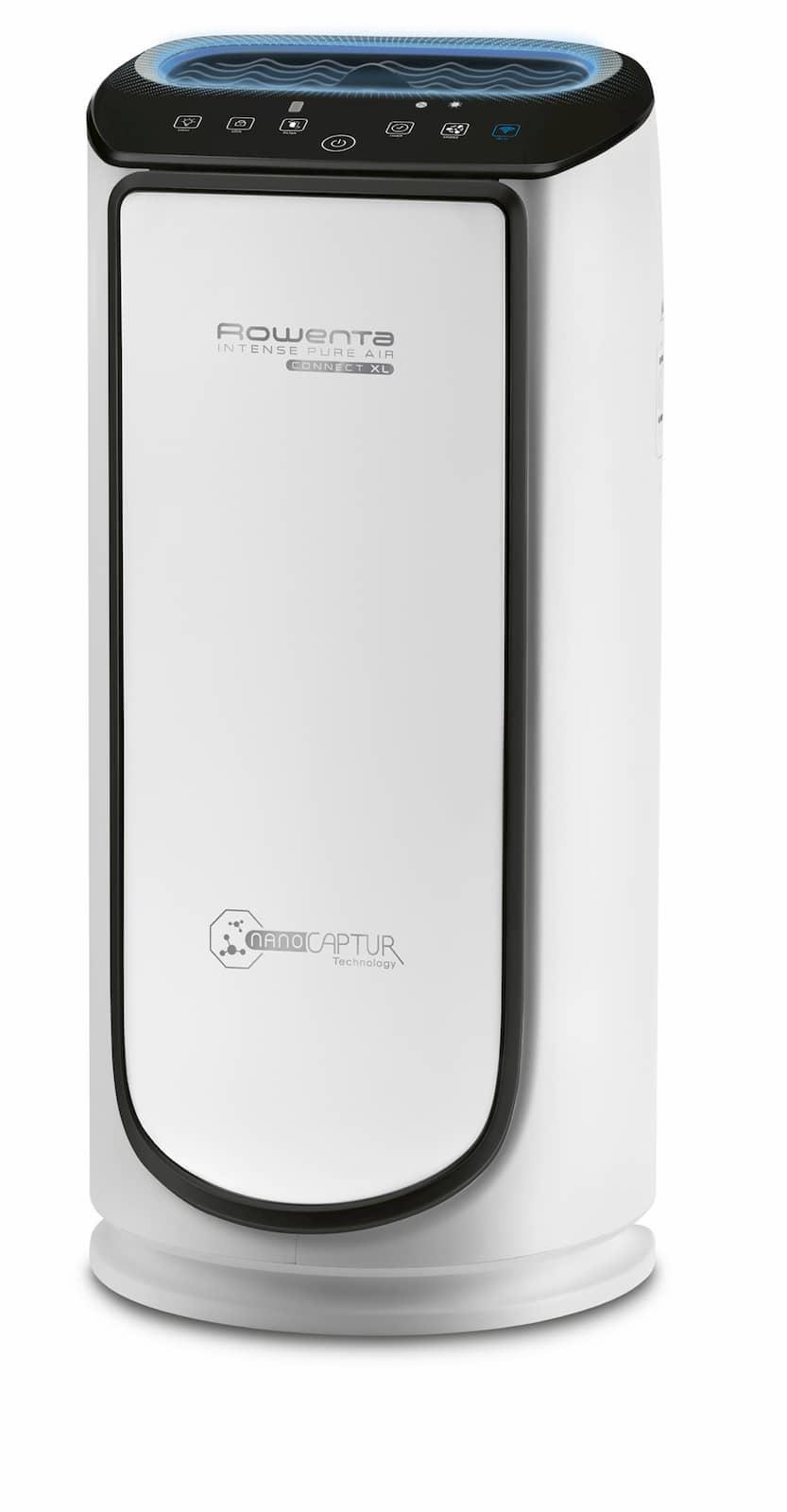 Mit der besten Rauch-Reduktionsrate auf Rang 3: Intense Pure Air Connect PU6080 von Rowenta.