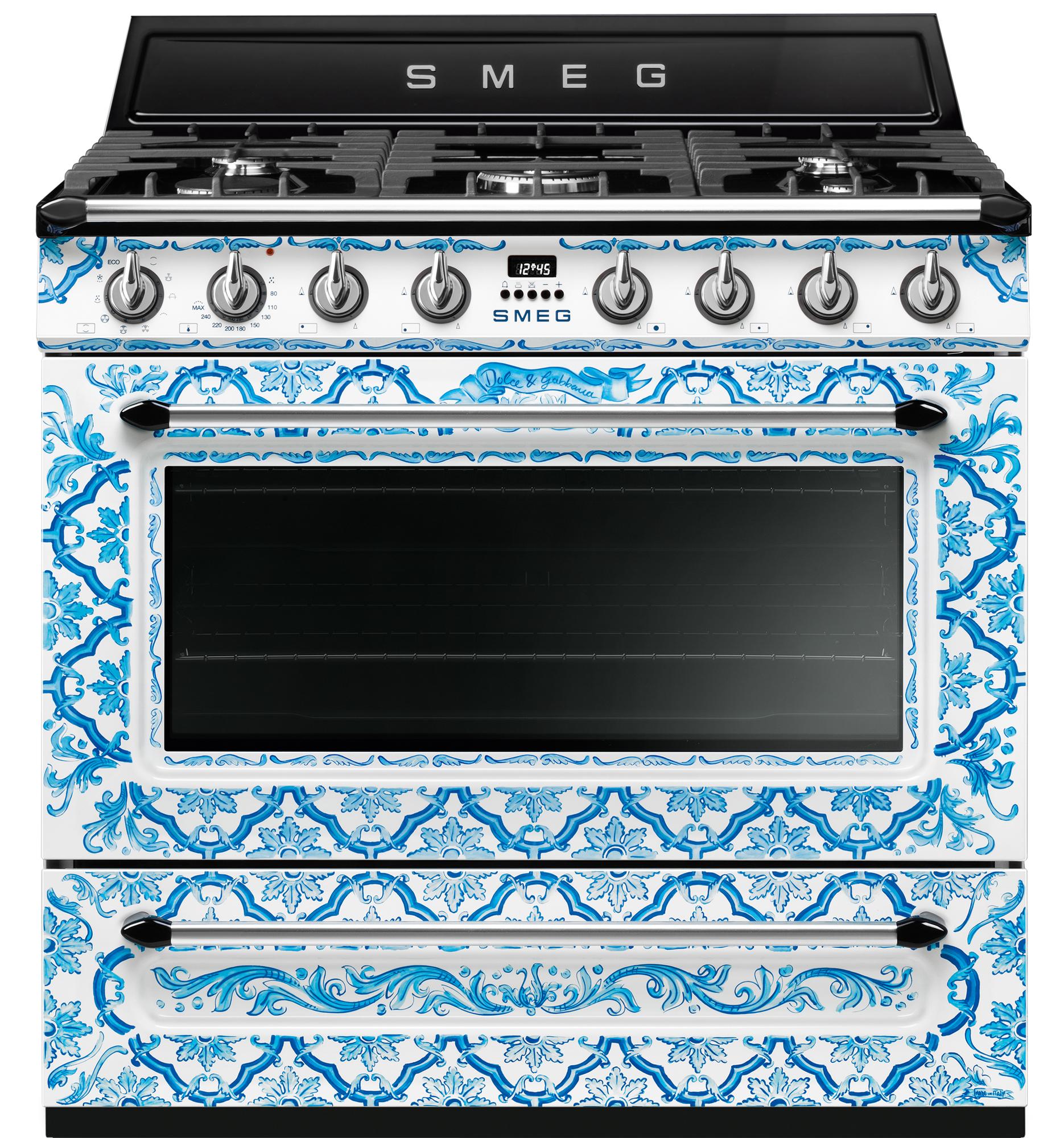 Smeg Kochzentrum Dolce Gabbana Mit Majolika Motiven
