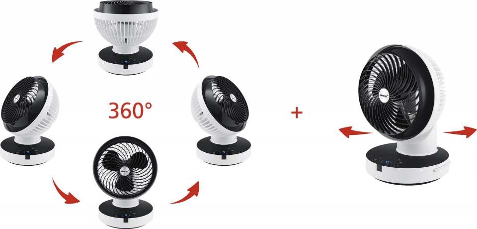 Steba Tischventilator VT 360 Twist mit 360° Rundum-Oszillation.