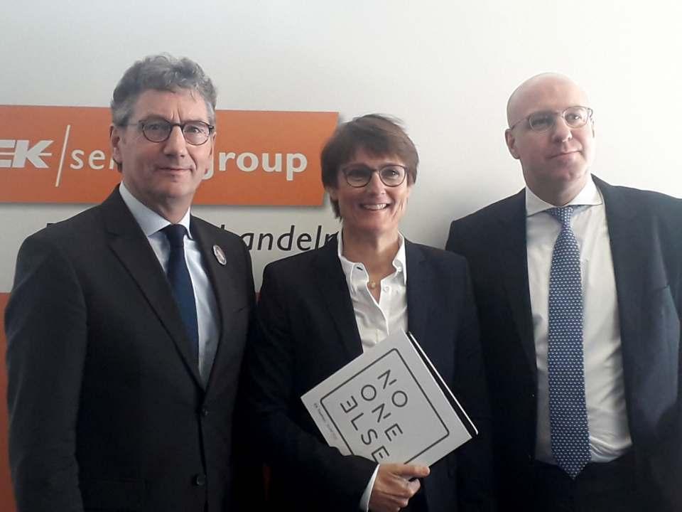 Da war die Welt (fast) noch in Ordnung: Der EK-Vorstand anlässlich der EK Live in Bielefeld im Januar.