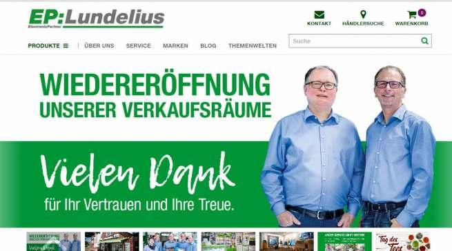 Wieder geöffnet: EP: Lundelius in Bredstedt in Nordfriesland.