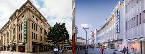 Bleiben weiter für den Publikumsverkehr dicht: Karstadt und Kaufhof.