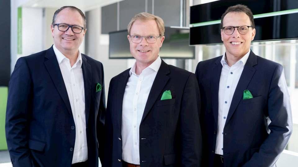 Die Gesamtgeschäftsführung von Berbel (v. l.): CFO Andreas Wolfsholz, CEO Karl von Bodelschwingh und COO Jürgen Kromer.