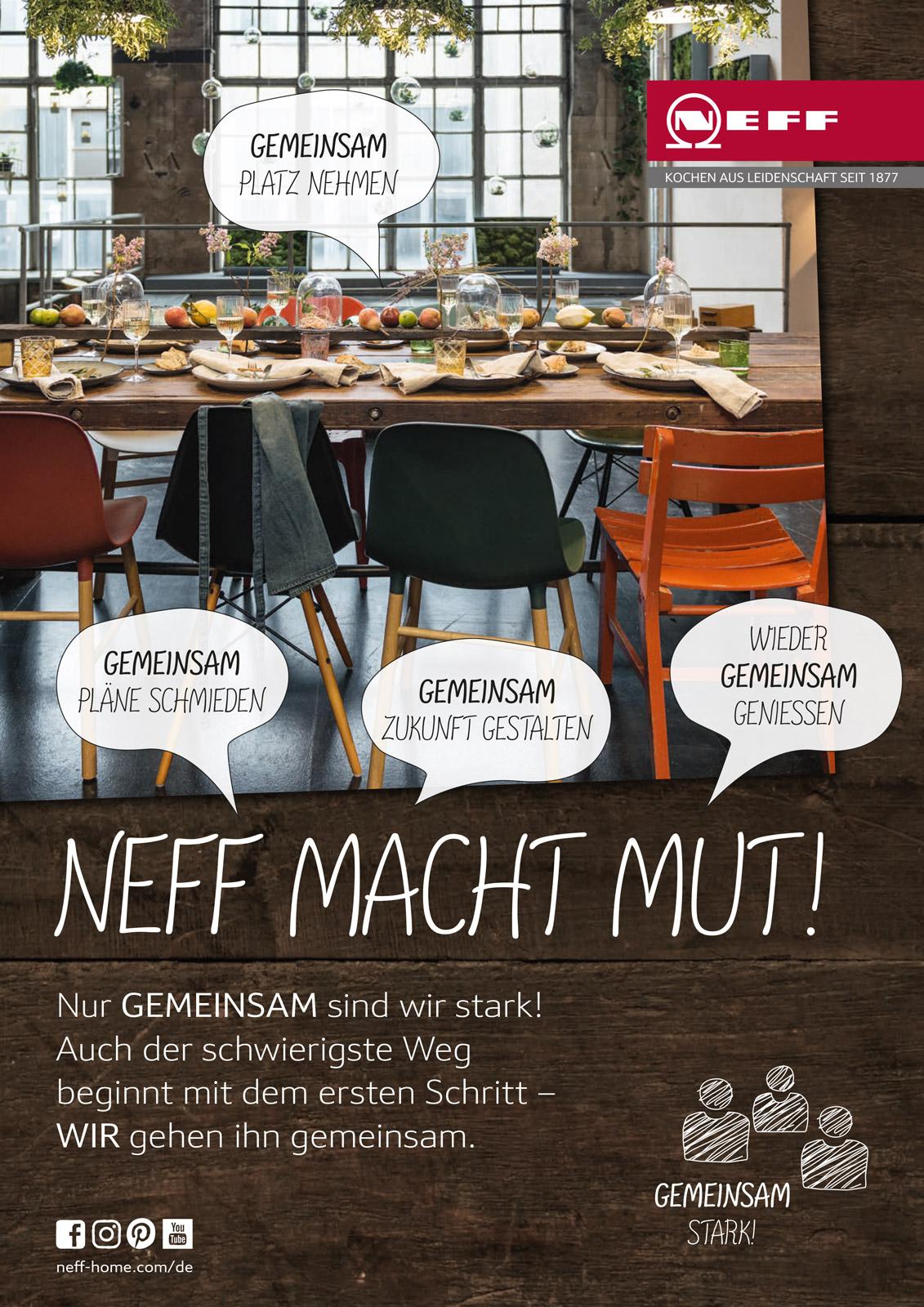 """Neff Anzeigenmotiv """"Neff macht mit"""""""