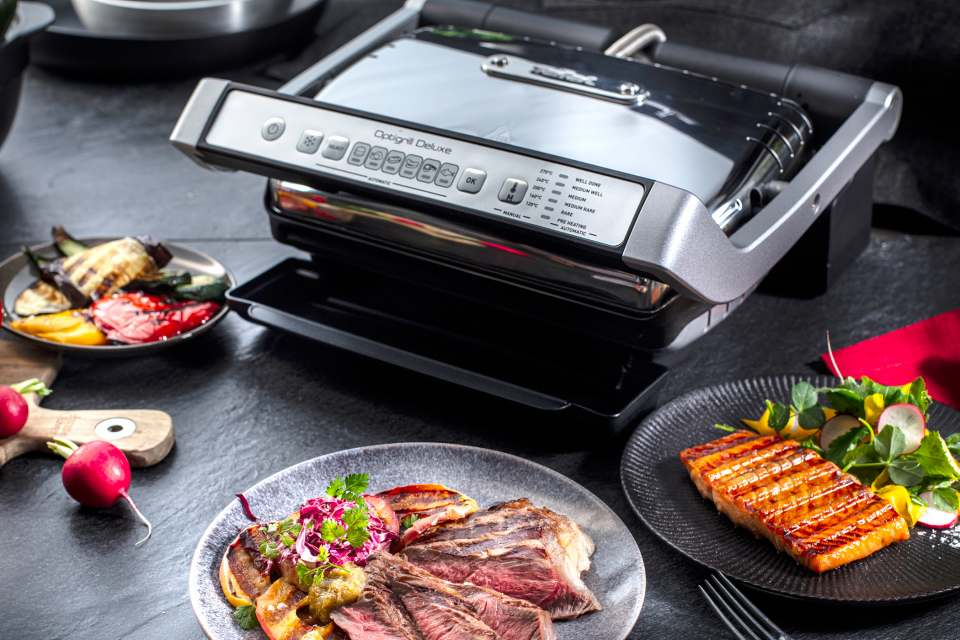 Tefal Grill OptiGrill Deluxe mit 6 Programmen.