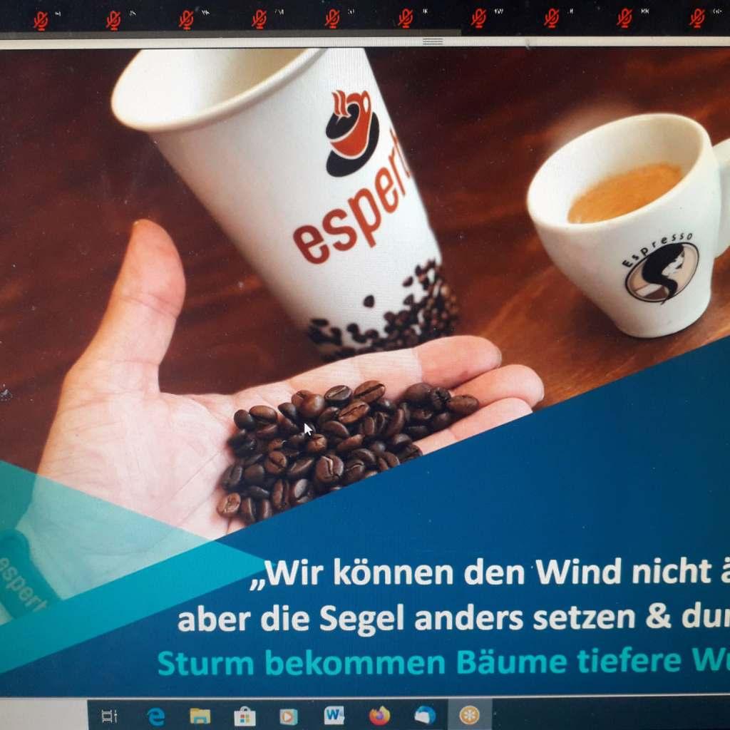 """(Fast) alles über Kaffee: Brömmelhaupt Webinar """"Kaffee – Chance und Umsatzsicherung in der Krise""""."""