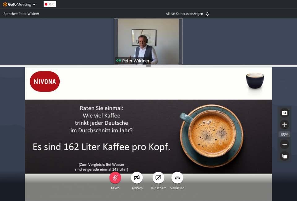 Brömmelhaupt-Webinar mit Nivona-Geschäftsführer Peter Wildner