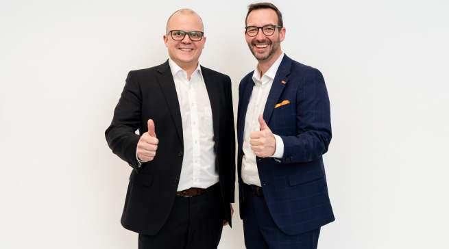 Erleichtert über den Re-Start: Jochen Pohle (l.) und Martin Wolf (r.).