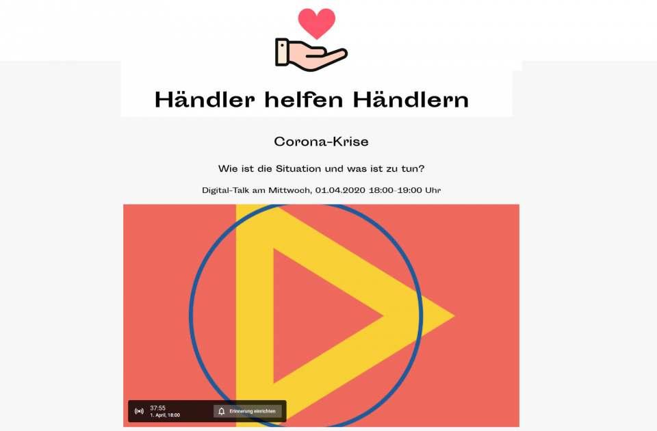 Screenshot Händler helfen Händlern Digital Talk