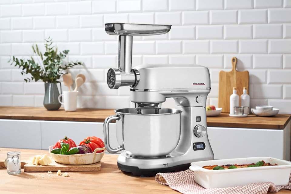 Sorglospaket mit Bestnote: Gastroback Küchenmaschine Advanced Digital.