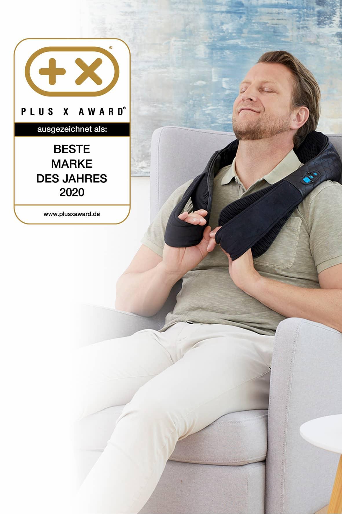 """Medisana: Ausgezeichnet als """"Beste Marke des Jahres 2020"""" im Bereich Massage."""