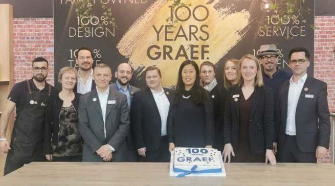 Graef feiert dieses Jahr 100-jährigen Geburtstag. Unser Foto entstand auf der Ambiente im Februar 2020.