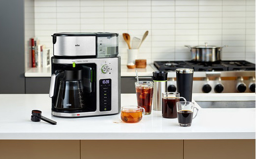 Braun Kaffeemaschine MultiServe KF 9170 SI mit Heißwasser-/ Teefunktion.