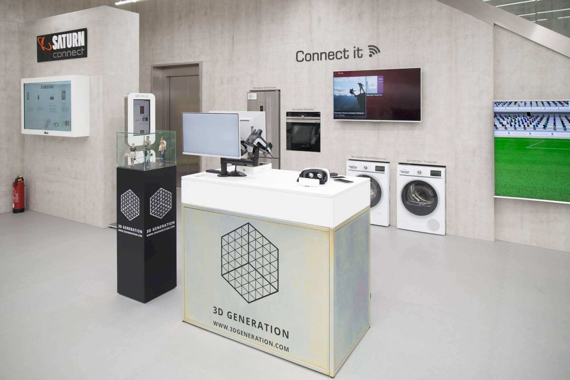 Auch vernetze Hausgeräte für Küche und Waschküche zählten zum Angebot von Saturn Connect in Köln. Foto: Martin Hangen