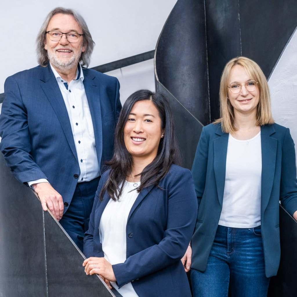 Sprung in die nächste Generation: Hermann, Johanna und Franziska Graef (v.l.).