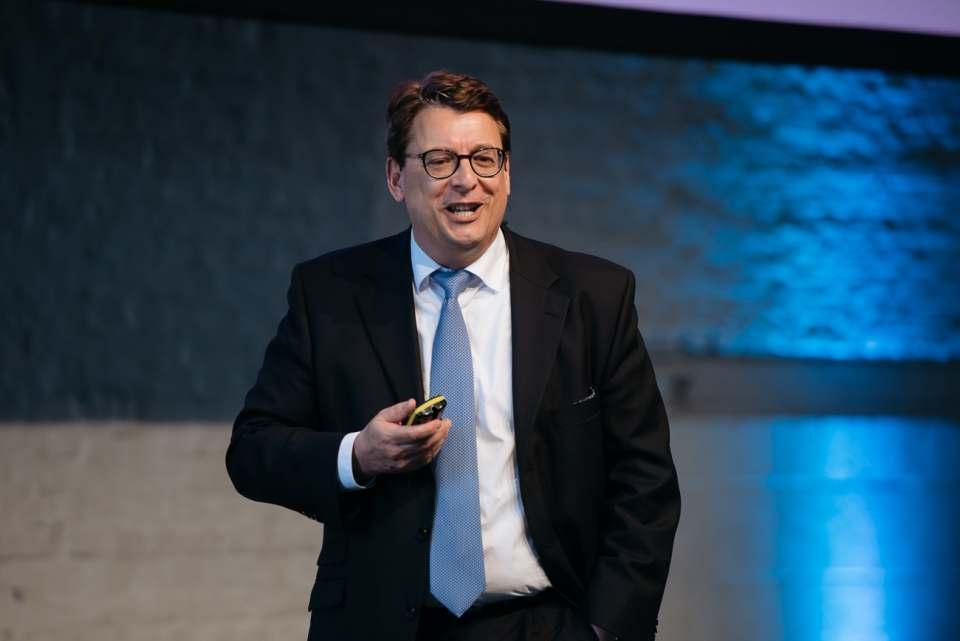 Da war noch (fast) alles in bester Ordnung: Dr. Stephan Fanderl beim eCommerce-Tag der NRW-Landesregierung im vergangenen Jahr.