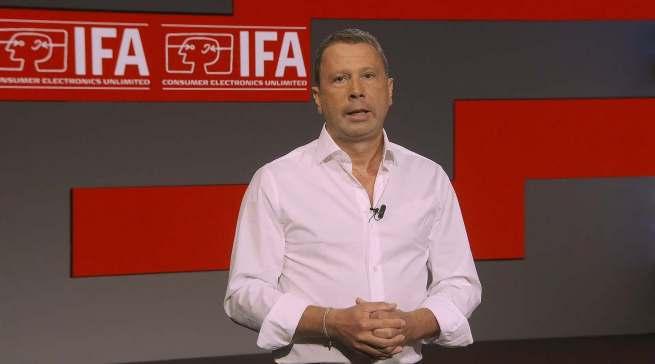 """""""Virtuelle Produktpräsentationen sind großartig, aber wir haben erlebt, dass sie kein vollwertiger Ersatz sind"""", Jens Heithecker, IFA Executive Director. Screenshot: G. Wagner"""