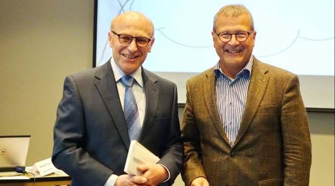 Zwei Gründungsmitglieder von ProBusiness (v.l.): Heinz Werner Ochs und Heinz Götz (ehemals Graef).