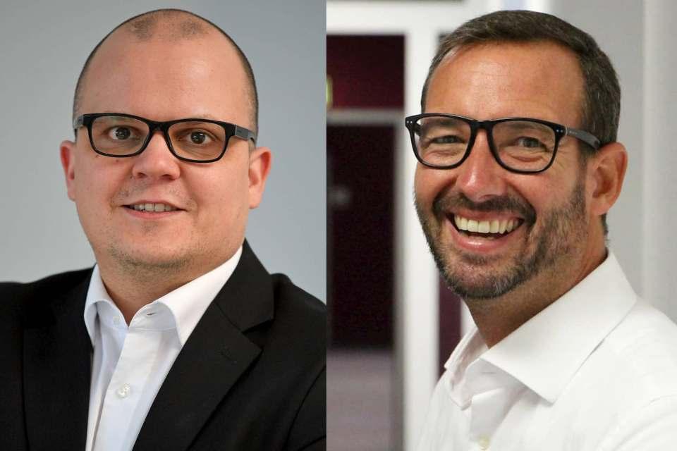 Jochen Phole, l. im Bild und Martin Wolf, r.