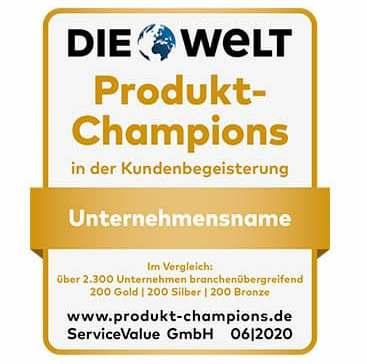 Durch Verbraucherumfragen ermittelt: Die Produkt-Champions 2020.