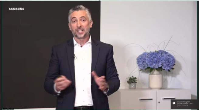 Sein erster Auftritt ist digital: Nedzad Gutic, neue Director HA bei Samsung.