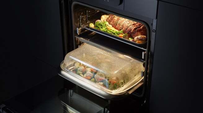 Der Dual Cook Steam ermöglicht die smarte Zubereitung durch die gleichzeitige Anwendung von Backen und Dampfgaren.