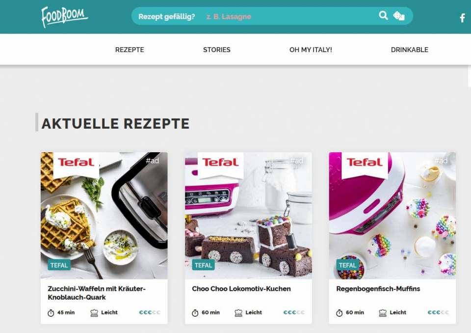 Gelebte Medienpartnerschaft: Foodboom mit den Marken Krups und Tefal.