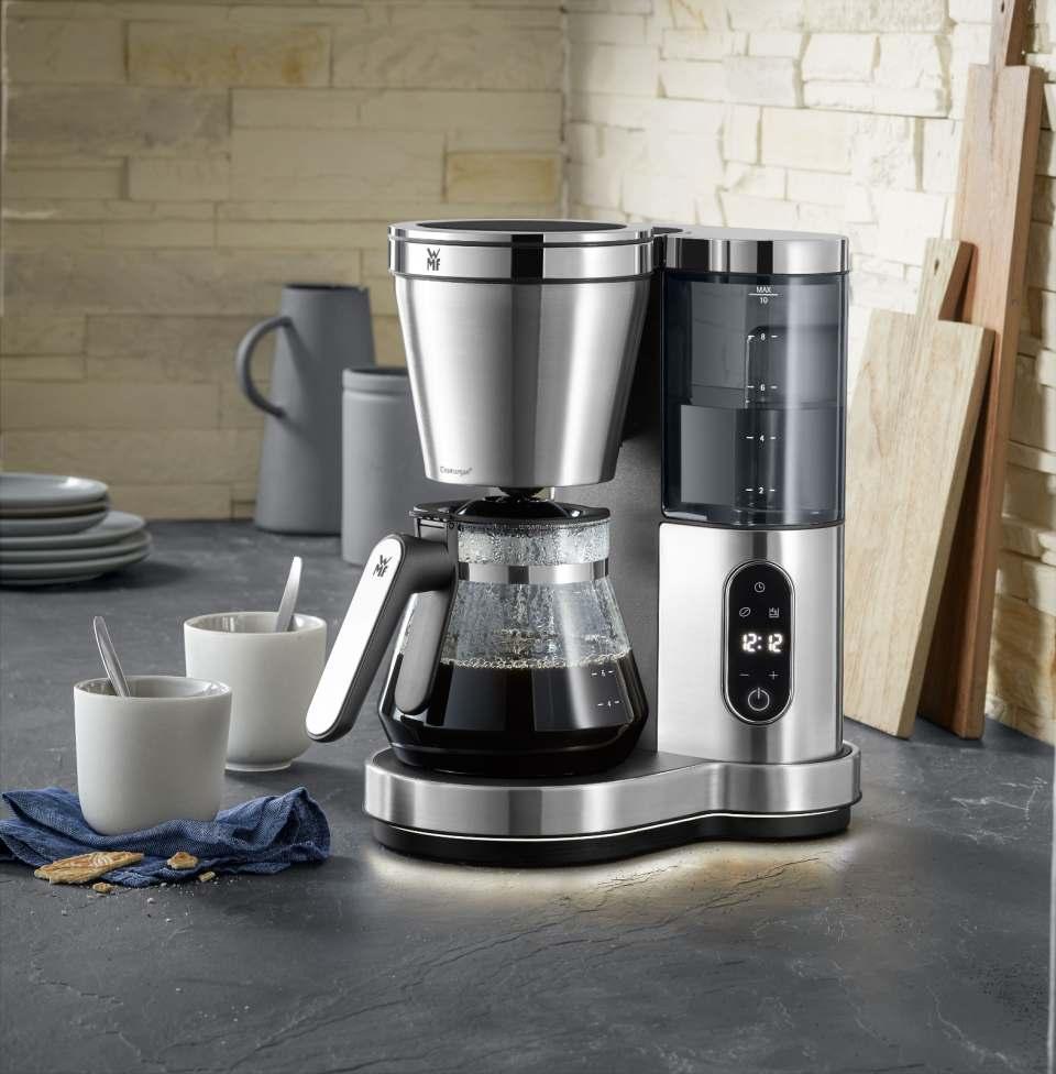 Die Glas-Ausführung der WMF Lumero Filterkaffeemaschine hat eine Kapazität für bis zu zehn Tassen (à 125 ml).