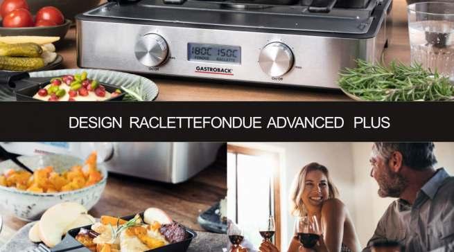 Datenblatt Gastroback Design Raclette-Fondue Advanced Plus