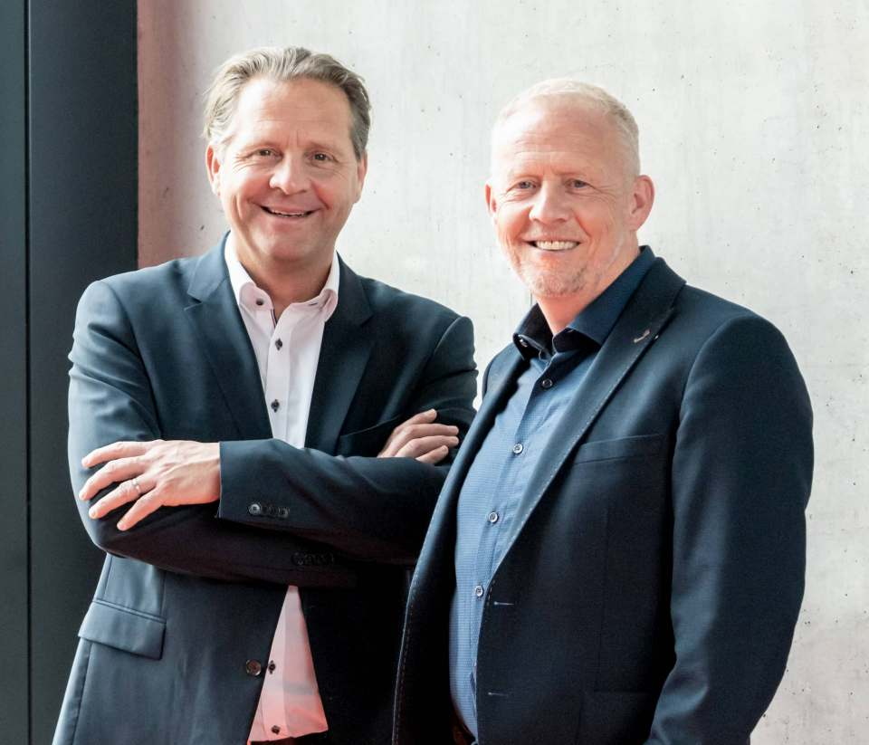 """""""Wir sind weit mehr als ein Zulieferer von Hausgeräten oder Ersatzteilen. Wir sind für den Fachhandel der starke Großhandelsspezialist für Hausgeräte"""", so Geschäftsführer Axel-Christof Schmid-Lorch (li.) und Hartmut Heppeler, Vertriebsleiter Hausgeräte."""