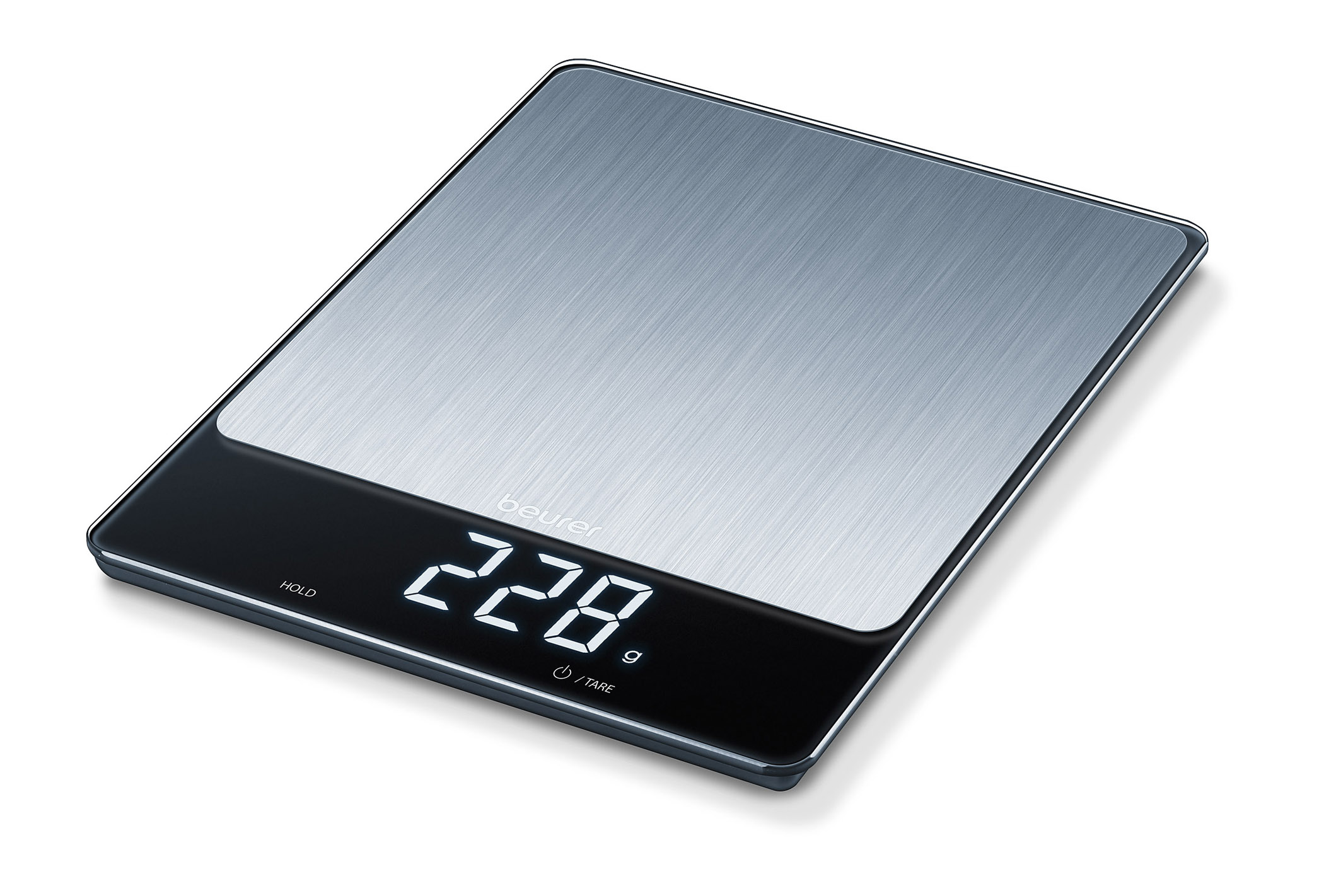 <h1>Beurer Küchenwaage KS 34 XL Stainless Steel</h1><h3 style='font-size: 20px; margin: 0px 0px 15px 0px;'> -Magic LED-Display, 15 kg Tragkraft</h3>
