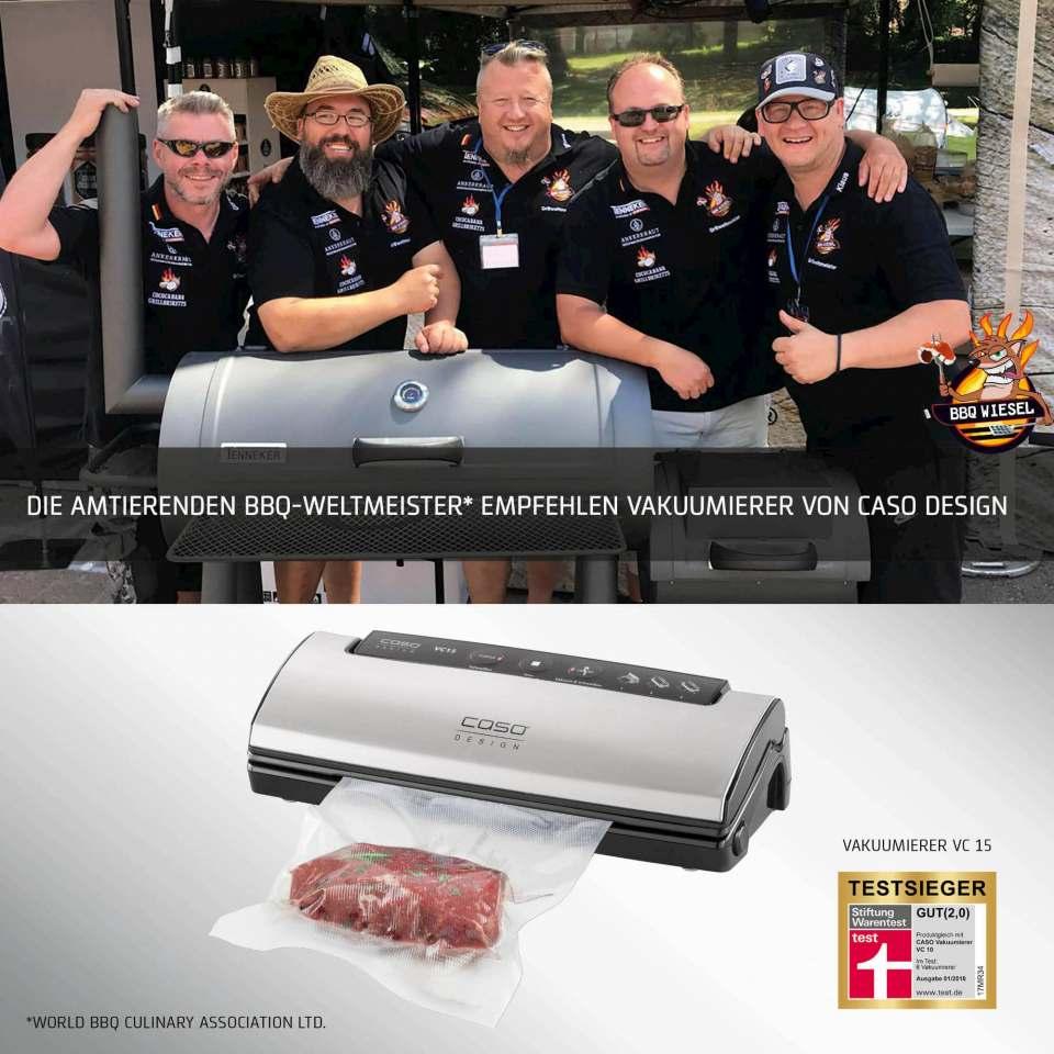Caso Sommeraktion mit BBQ-Weltmeistern und Display für Händler.