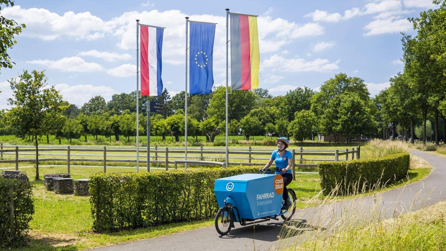 """In Planung: Das Fahrradkurier-Netzwerk """"CoolblueRadelt"""" eignet sich dann wohl eher für Elektrokleingeräte."""