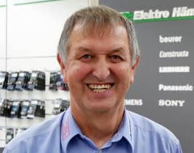 Glaubt an den beratungsstarken, serviceorientierten Fachhandel: Gerhard Hämmerle hat EP: Hämmerle in Herrenberg bei Stuttgart vor zwei Jahren mit einem Umbau fit für die Zukunft gemacht.