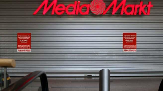 Der wochenlange Lockdown, hier bei MediaMarkt in bester Innenstadt-Lage von Düsseldorf, lastet schwer auf der Ceconomy-Bilanz.