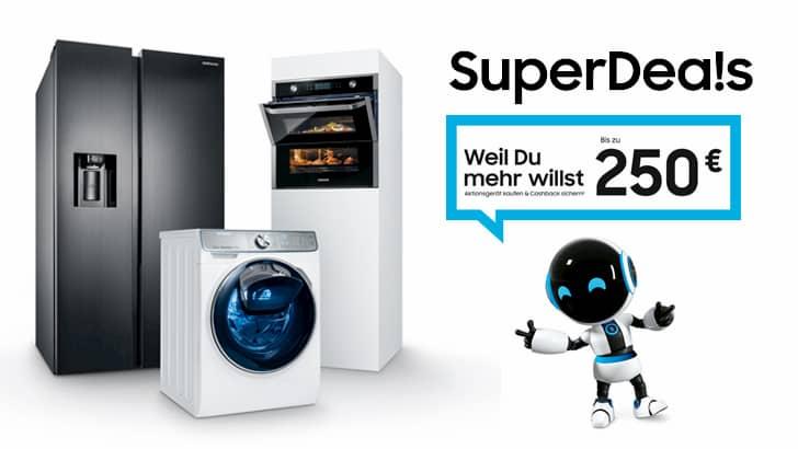 SuperDeals aus den Produktbereichen Waschen, Kühlen, Einbau.
