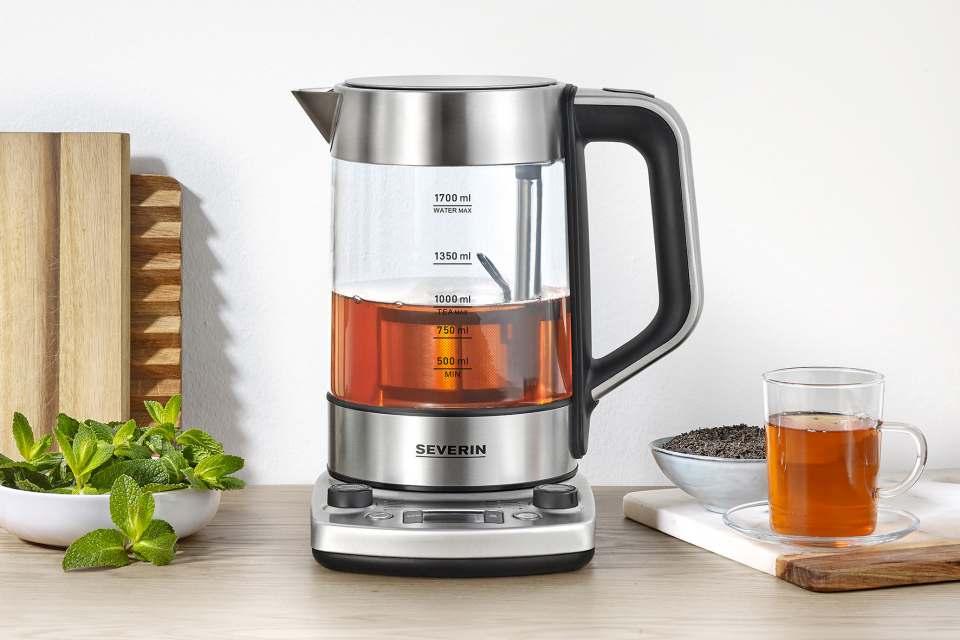 Severin Tee- und Wasserkocher Professional WK 3422 mit Teeprogrammen.