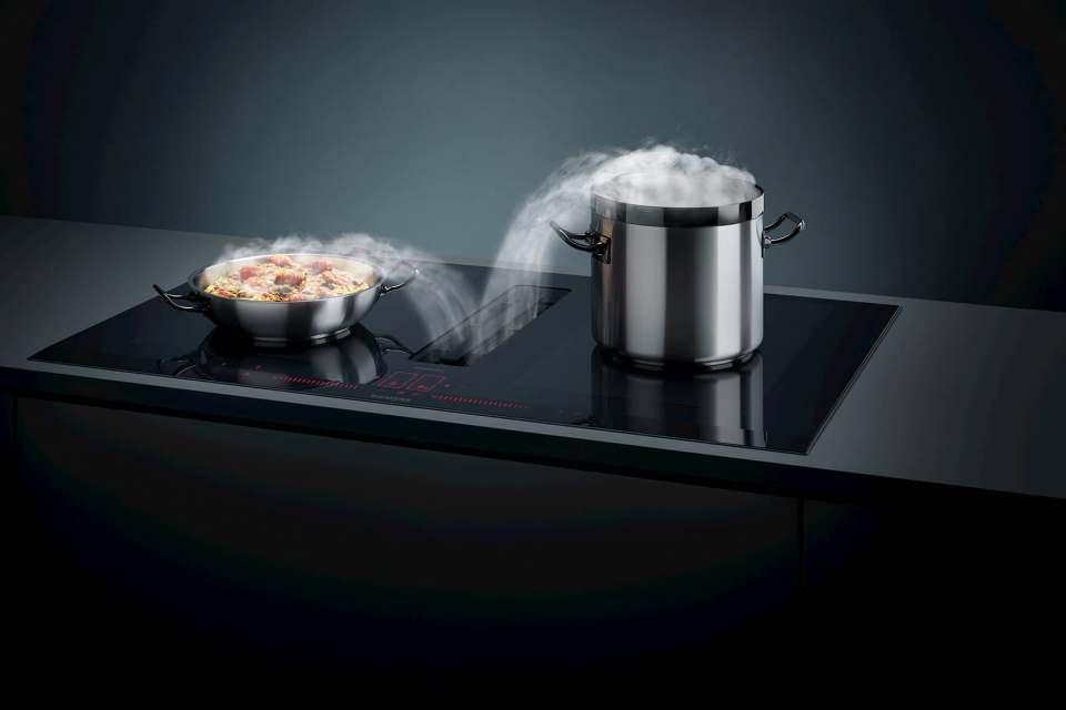 Großer Auftritt für die Siemens Kochfelder inductionAir Plus.