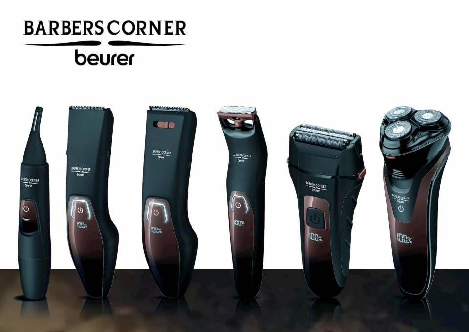 """Mit """"BarbersCorner"""" stellt Beurer eine hochwertige Beauty-Range für Herren vor."""