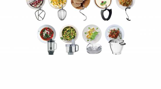 Mit mehr als 25 optionalen Zubehörteilen eröffnen sich mit der Cooking Chef XL über 1.000 Zubereitungsmöglichkeiten.