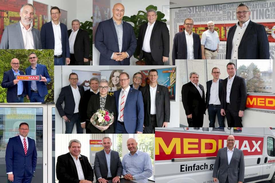 Es werden immer mehr: Regelmäßig begrüßt Friedrich Sobol neue Medimax Franchisepartner in der ElectronicPartner Zentrale in Düsseldorf.