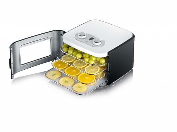 Obst oder Gemüse einfach trockenen im neuen GRAEF Mini-Doerrautomaten 2042.