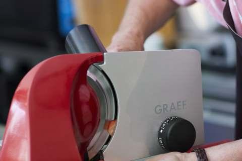 Der GRAEF MiniSlice-Aufsatz passt auf jeden GRAEF Allesschneider.