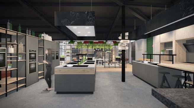 So soll sie in Kürze aussehen: die Ausstellungsfläche von Neff im house4kitchen in Löhne.