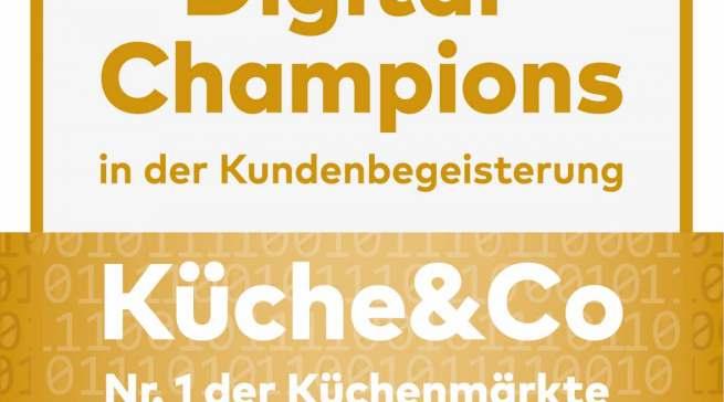 Küche&Co wiederholt den Sieg: Digital Champion
