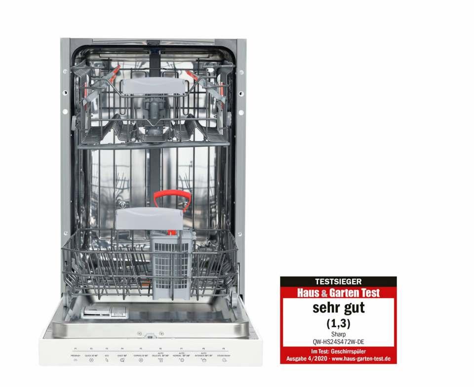 """Note """"sehr gut"""" für den Sharp Geschirrspüler QW-HS24S4772W-DE"""