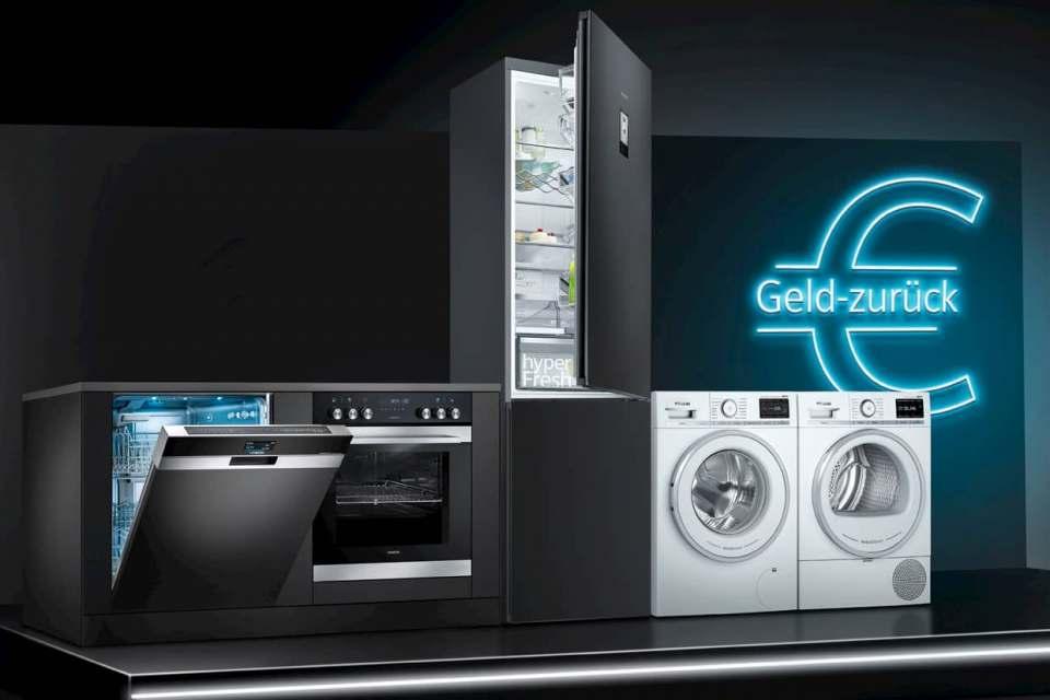 Siemens zahlt Cashback für Geräte der Extraklasse.