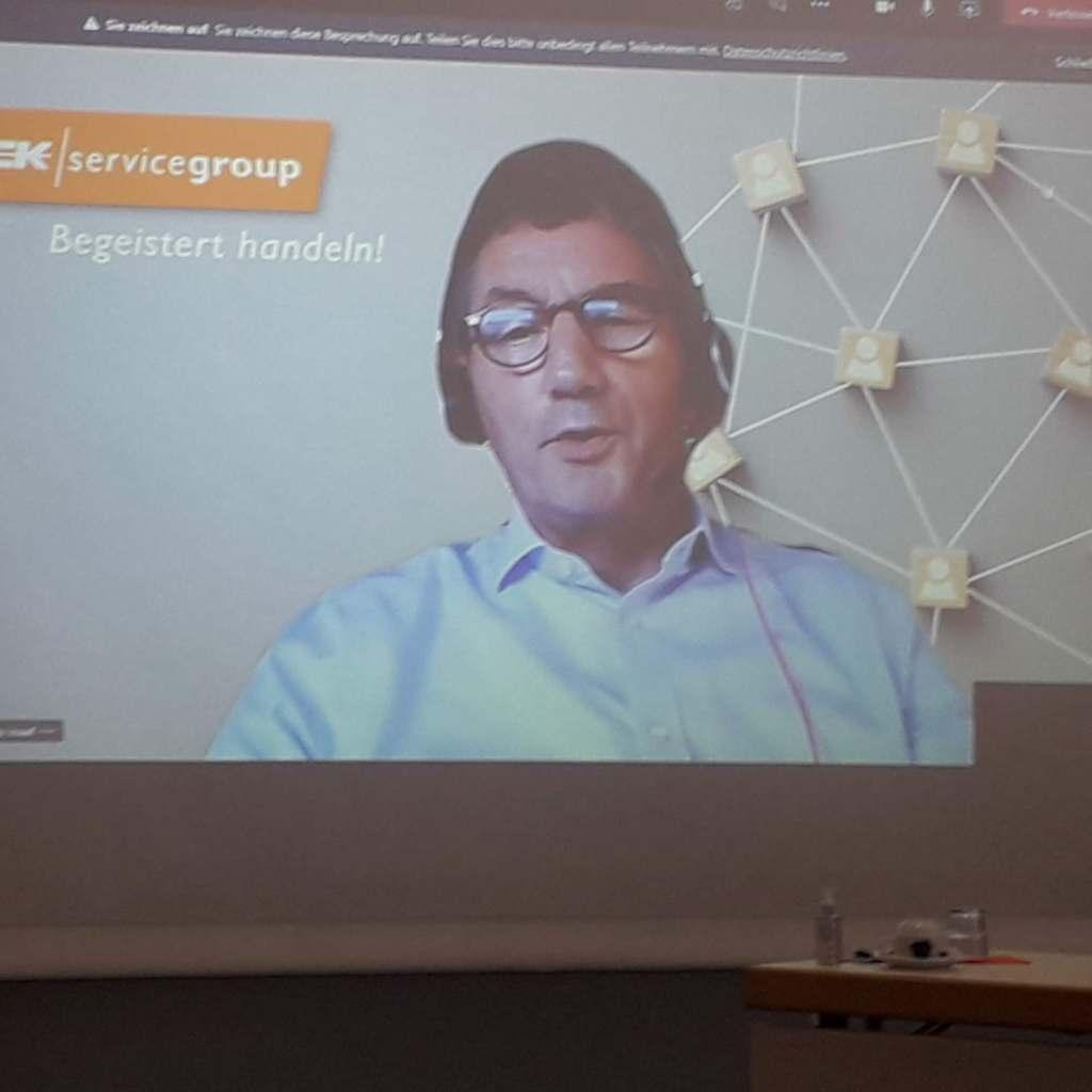 War live zugeschaltet: EK Vorstandsvorsitzender Franz-Josef Hasebrink.