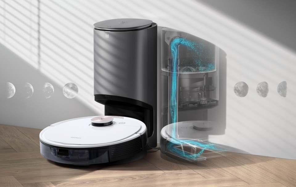 Ecovacs Saugroboter DEEBOT OZMO T 8 mit TrueDetect 3D-Technologie.