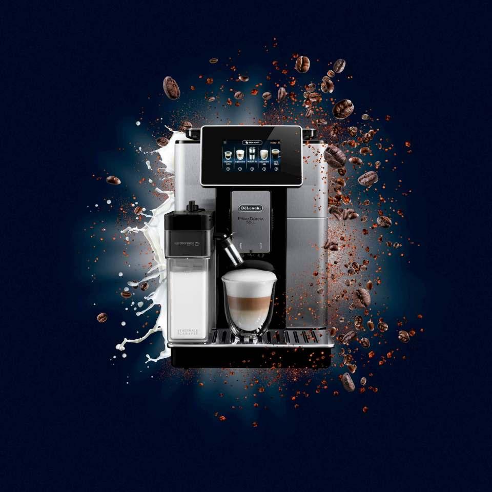 Kaffeevollautomat in der Premium-Range: De'Longhi PrimaDonna Soul.